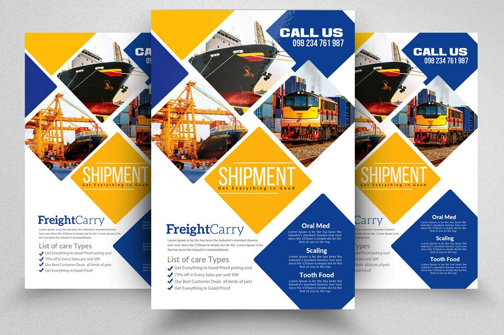 Logistic Freight Services Flyer