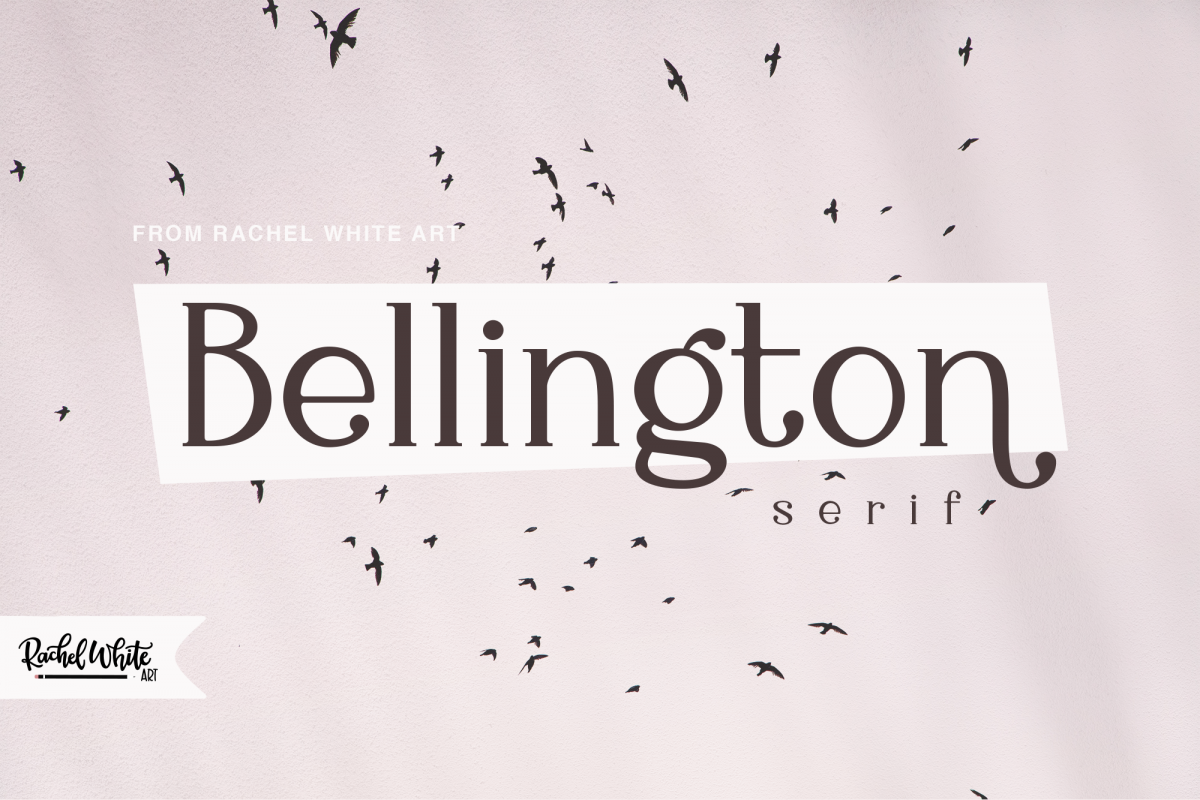 Bellington, a charming serif font example image 1