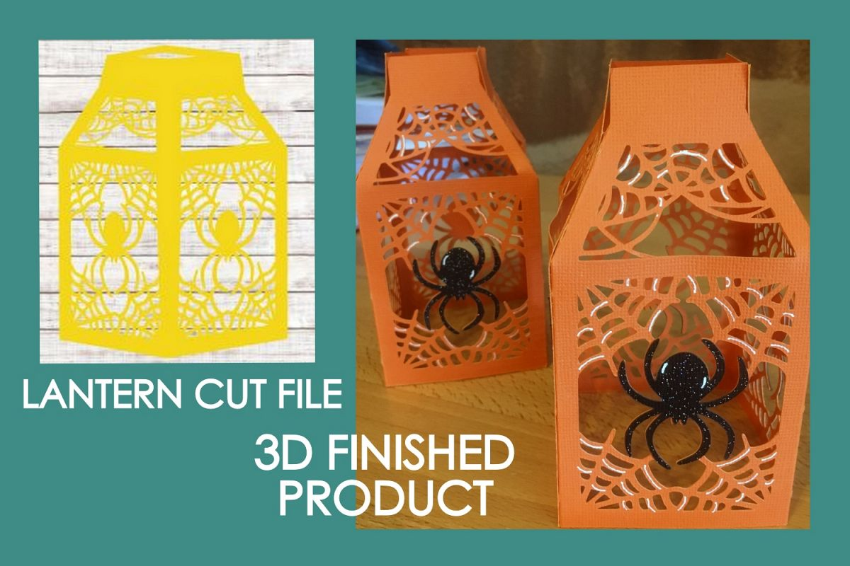 Halloween Lantern #07 Spiderweb #01 SVG Cut File example image 1