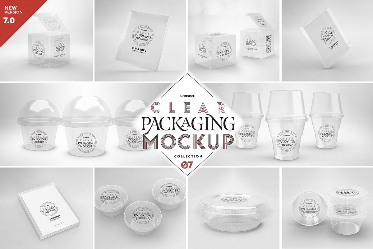 VOL.7 Clear Packaging Mockup Collection example image 1