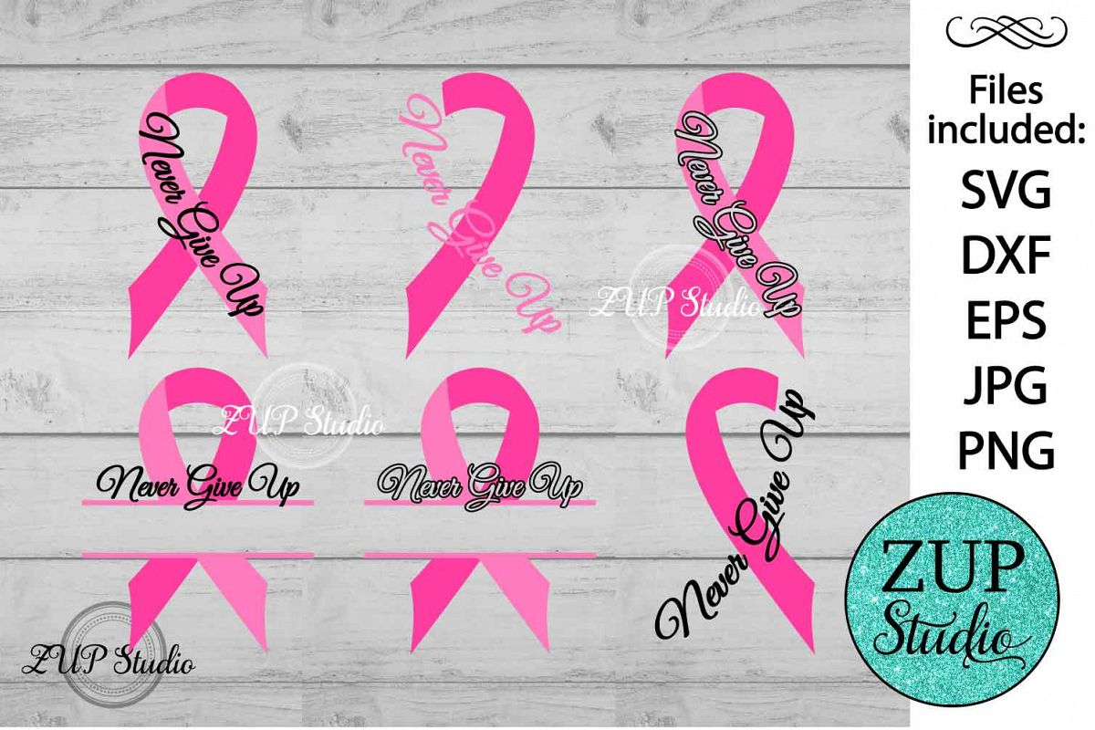Breast Cancer Ribbon cutting files svg 15 example image 1