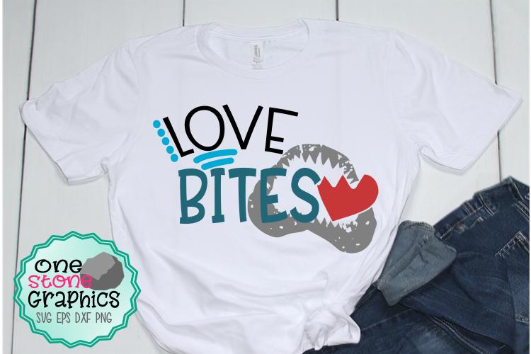Love bites svg,shark svg,valentines day svg,love svg example image 1