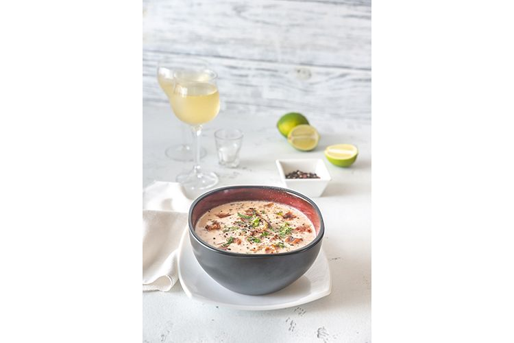 Bowl of clam chowder example image 1