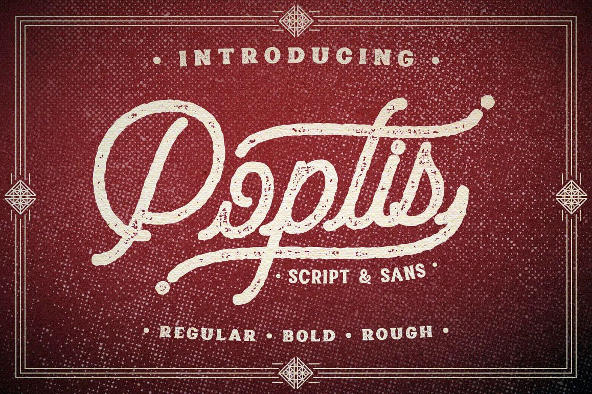 Poptis & Heaver Font example image 1