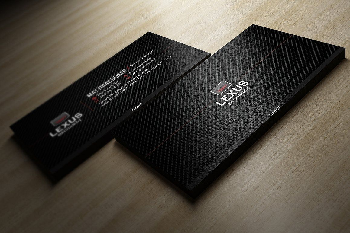 Carbon Business Card example image 1
