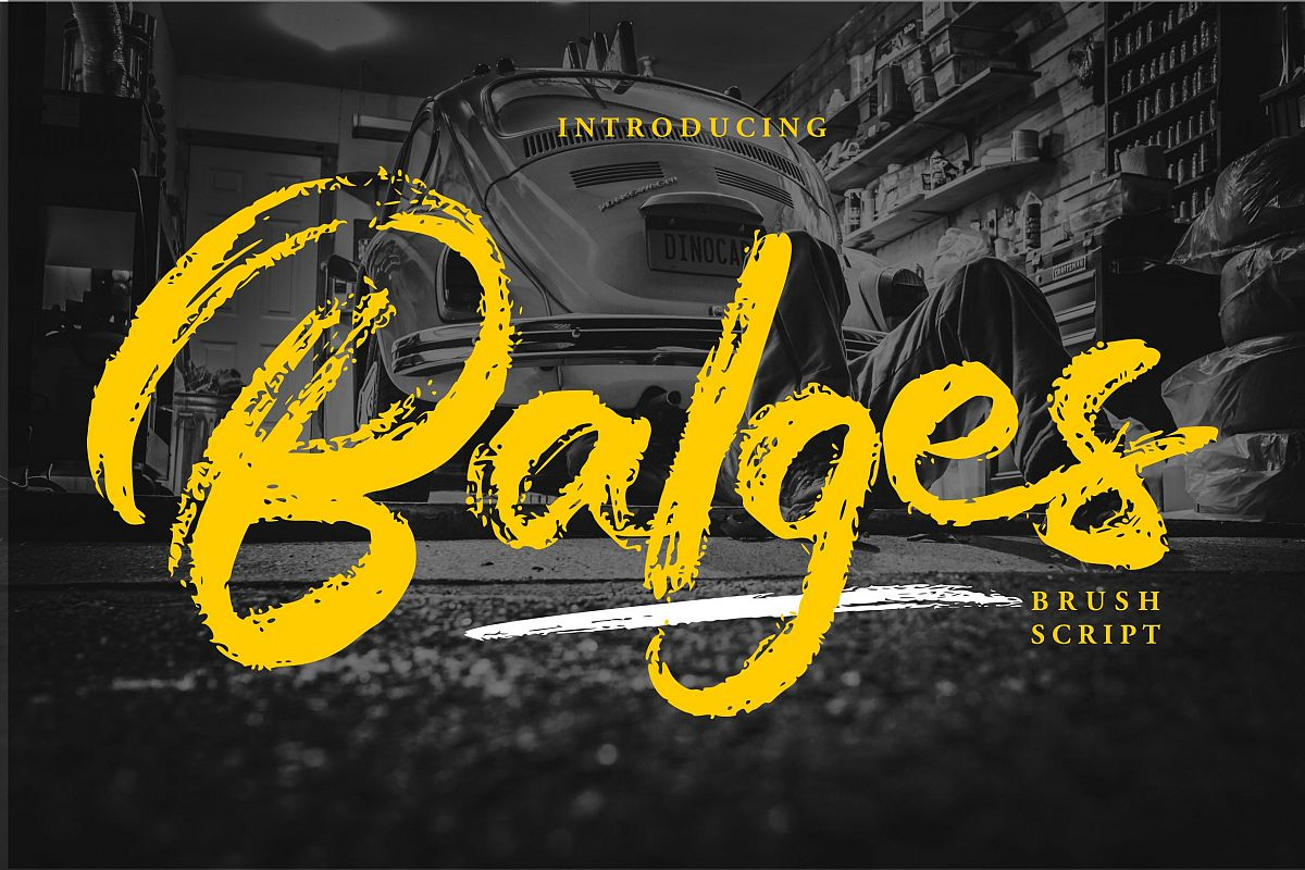 Balges | Decorative Brush Script Font example image 1