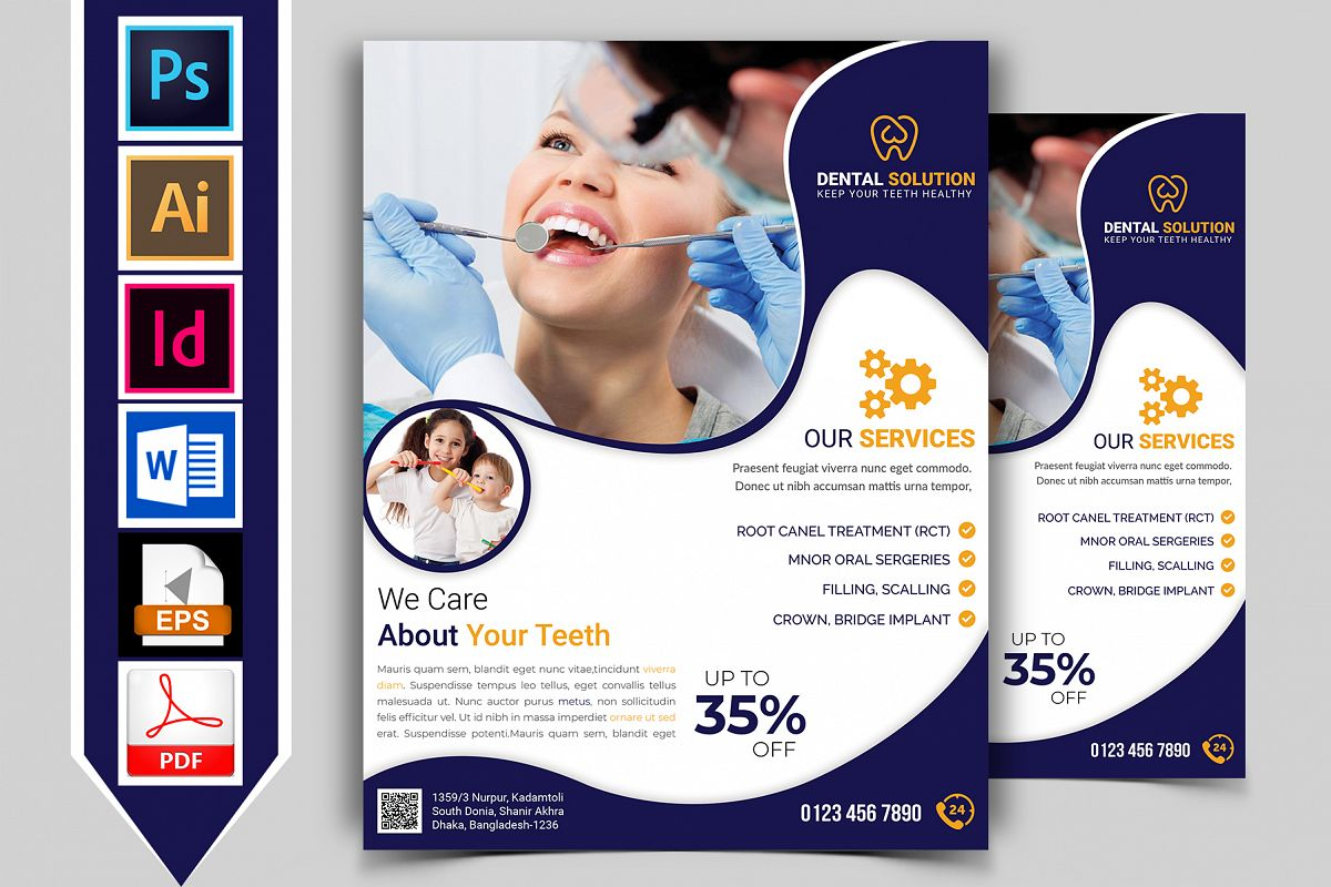 Dental Flyer Template Vol-01 example image 1