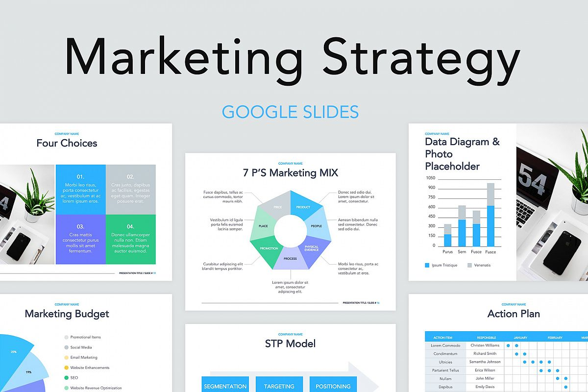 Marketing Strategy Google Slides Template example image 1