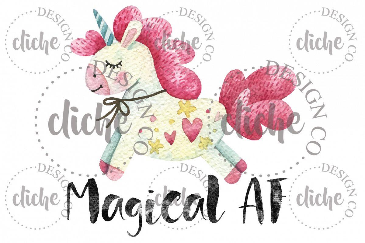Unicorn Adult Sublimation Design example image 1