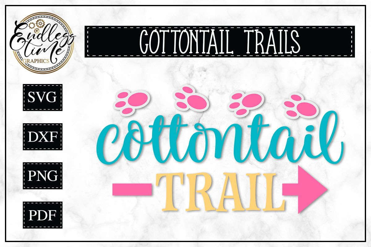 Cottontail Trails - A Fun Easter SVG Design example image 1
