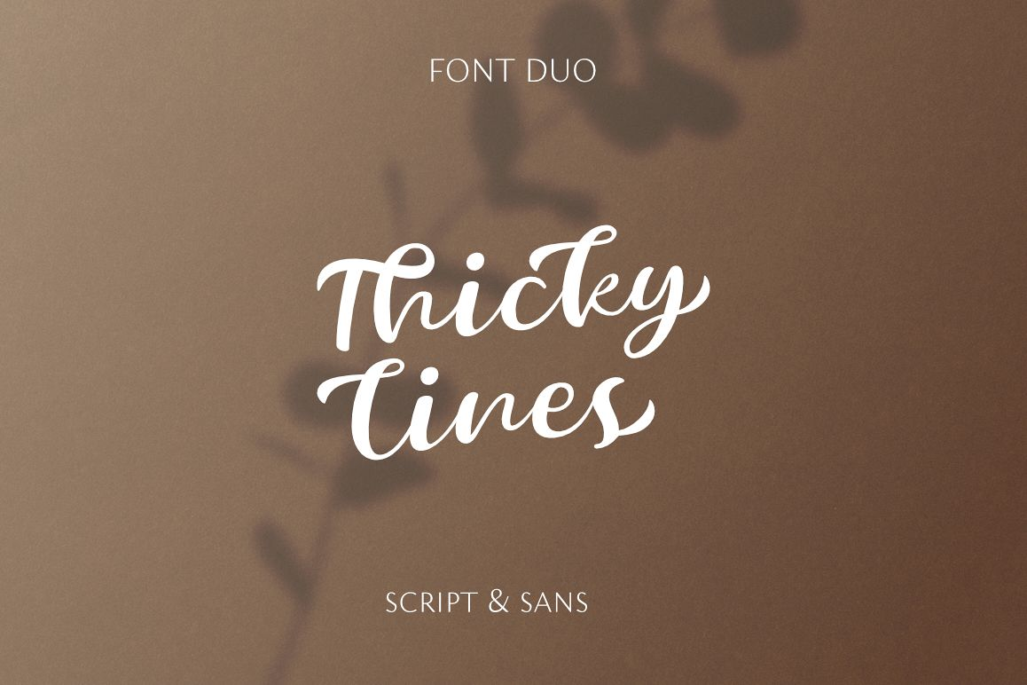 Thickylines Font Duo - Luxurious Script & Sans example image 1
