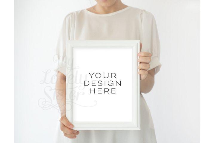 Frame Mock up, White Frame mockups, mockup frame,Instant Download, Digital Download Photo, Styled Background, Frame Stock Photo, Stock image example image 1