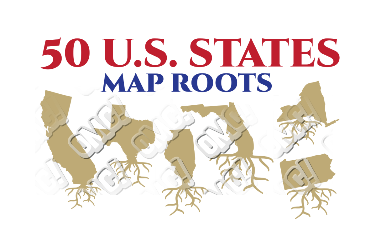 Us State Map Root America Bundle In Svg Dxf Png Jpeg Eps