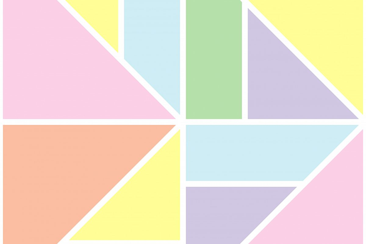 Seamless geometric background with soft pastel colors. Textile rapport. example image 1