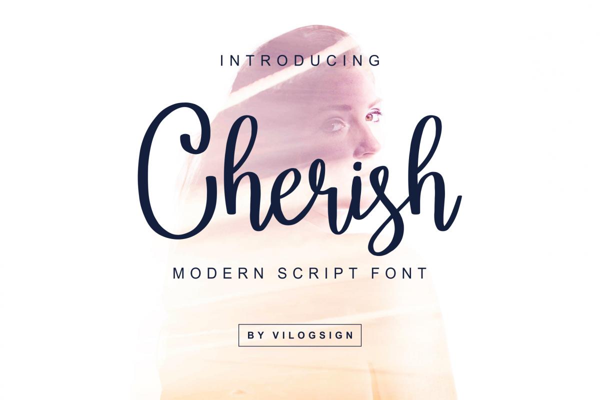 Cherish // Modern Script Font example image 1
