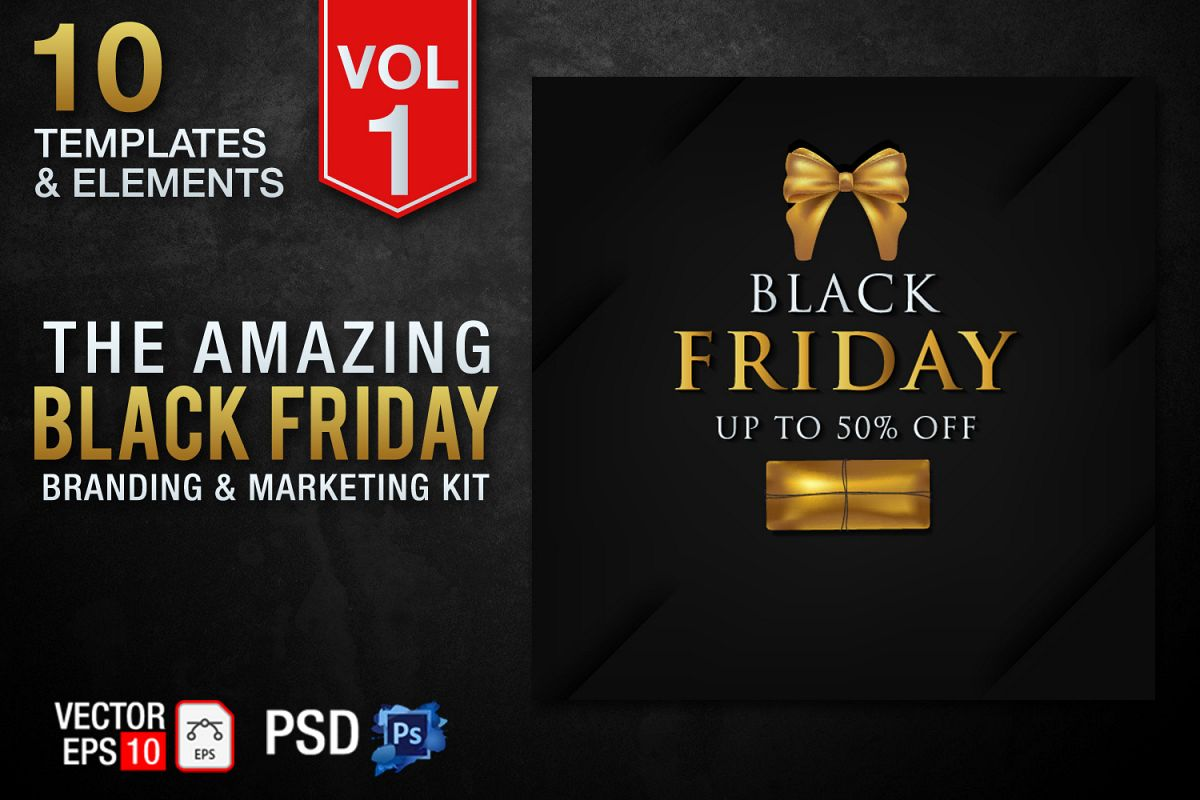 Black Friday Templates Vol 1 example image 1