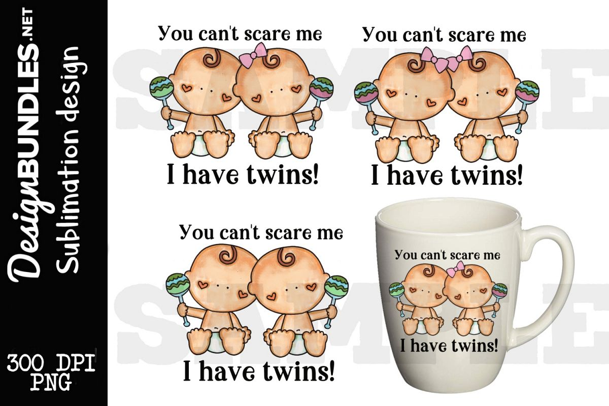 Twins Sublimation Design example image 1