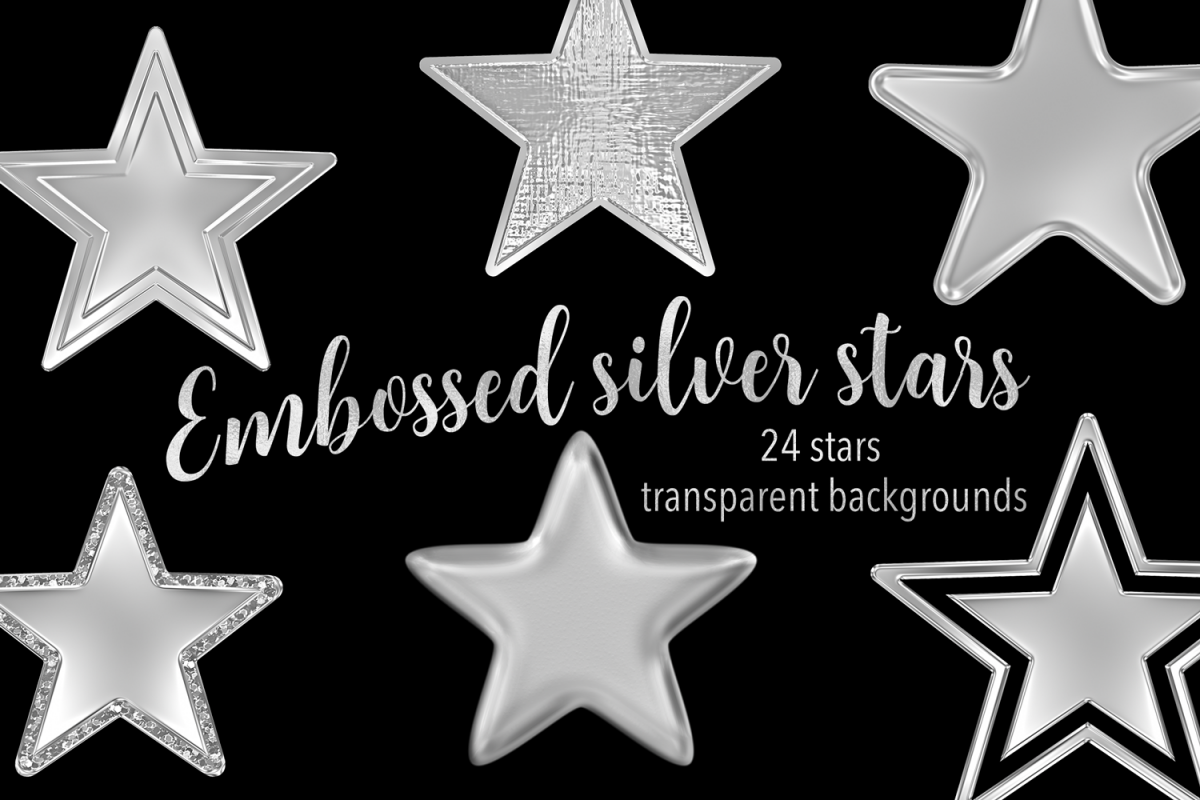 Embossed Silver Stars example image 1