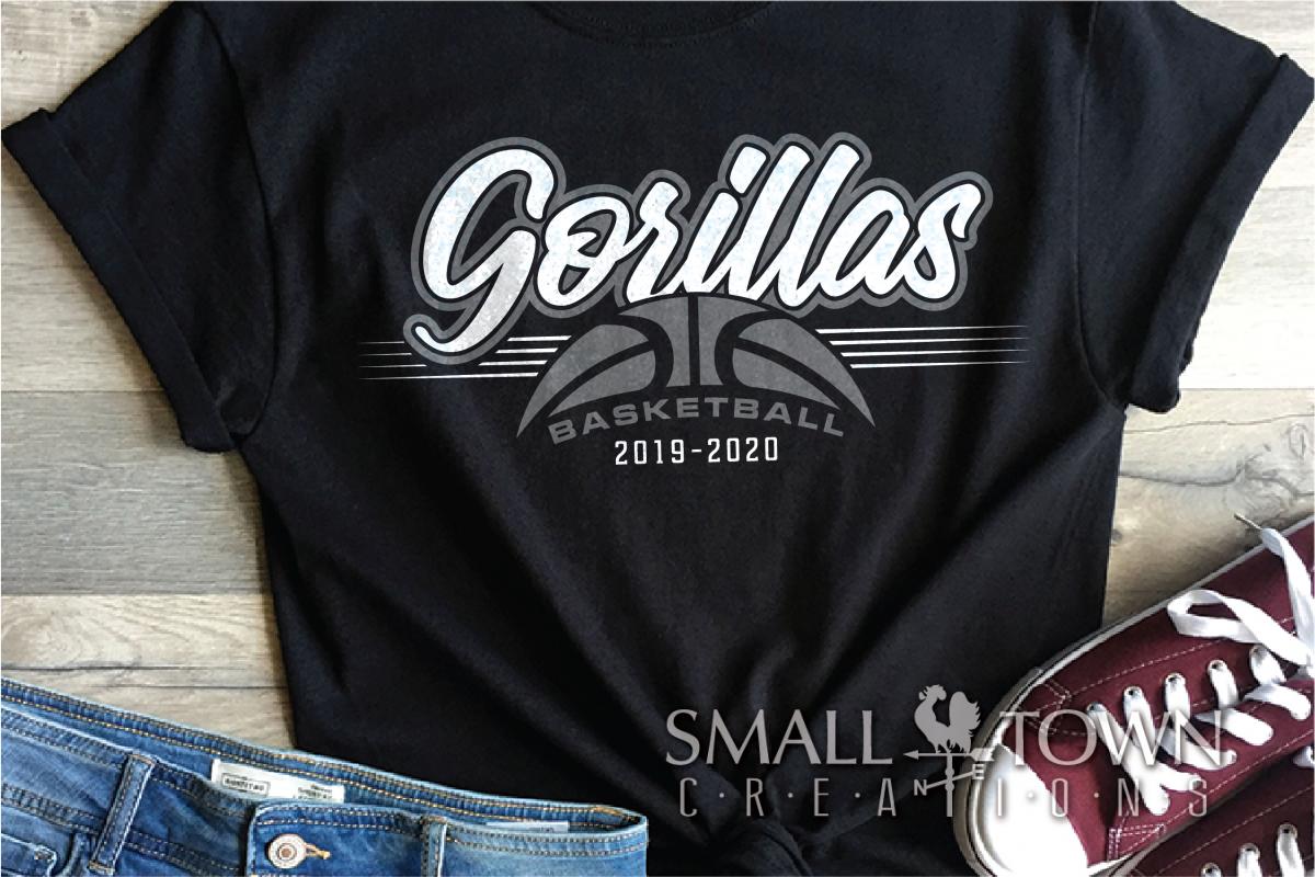 Gorilla, Basketball, Sport, Design, PRINT, CUT, DESIGN example image 1