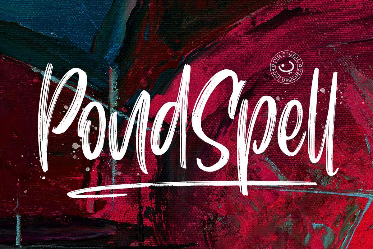 Pondspell Brush Font example image 1