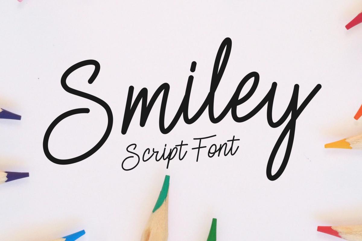 Smiley | Monoline Script example image 1