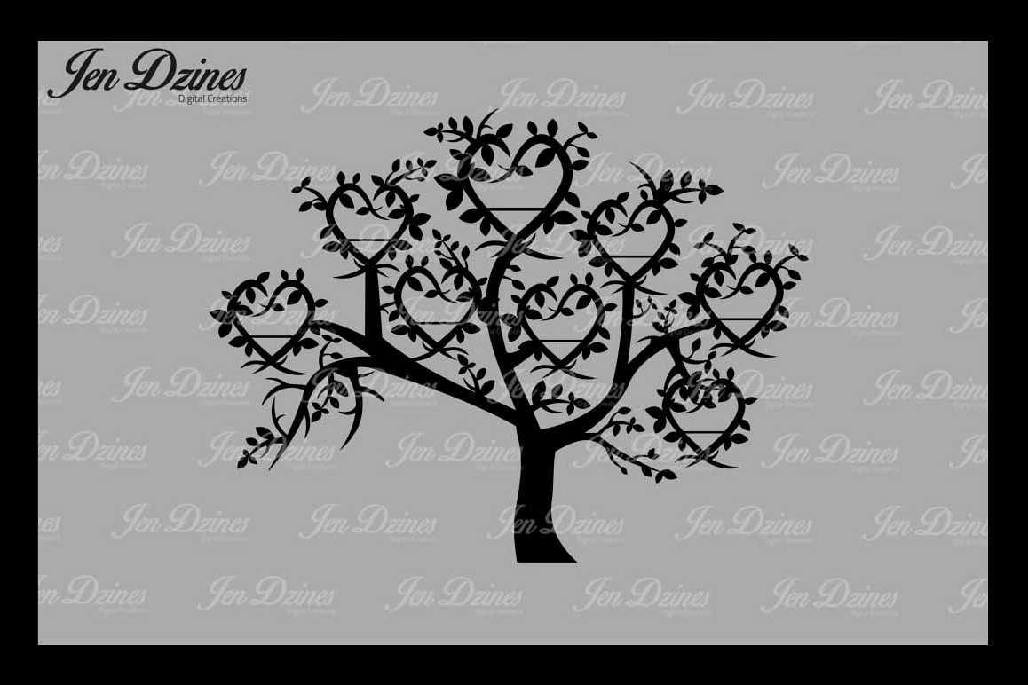 Family Tree 8 Names SVG DXF EPS PNG example image 1