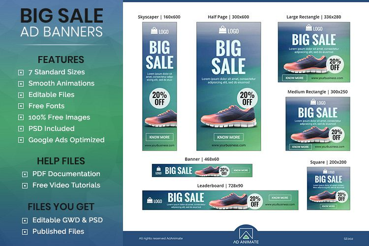 Big Sale Animated Ad Banner Template - SE002