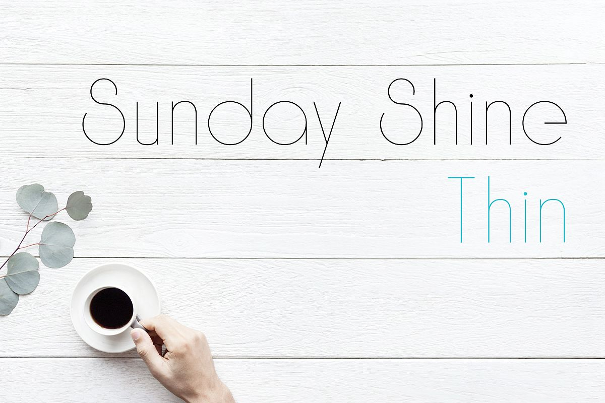 Sunday Shine - Thin example image 1