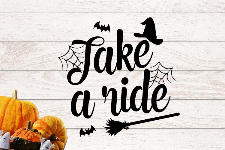 Take a ride Halloween SVG example image 1