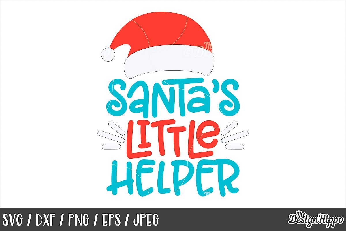 Christmas, Santas Little Helper, Santa Hat, SVG, PNG, DXF