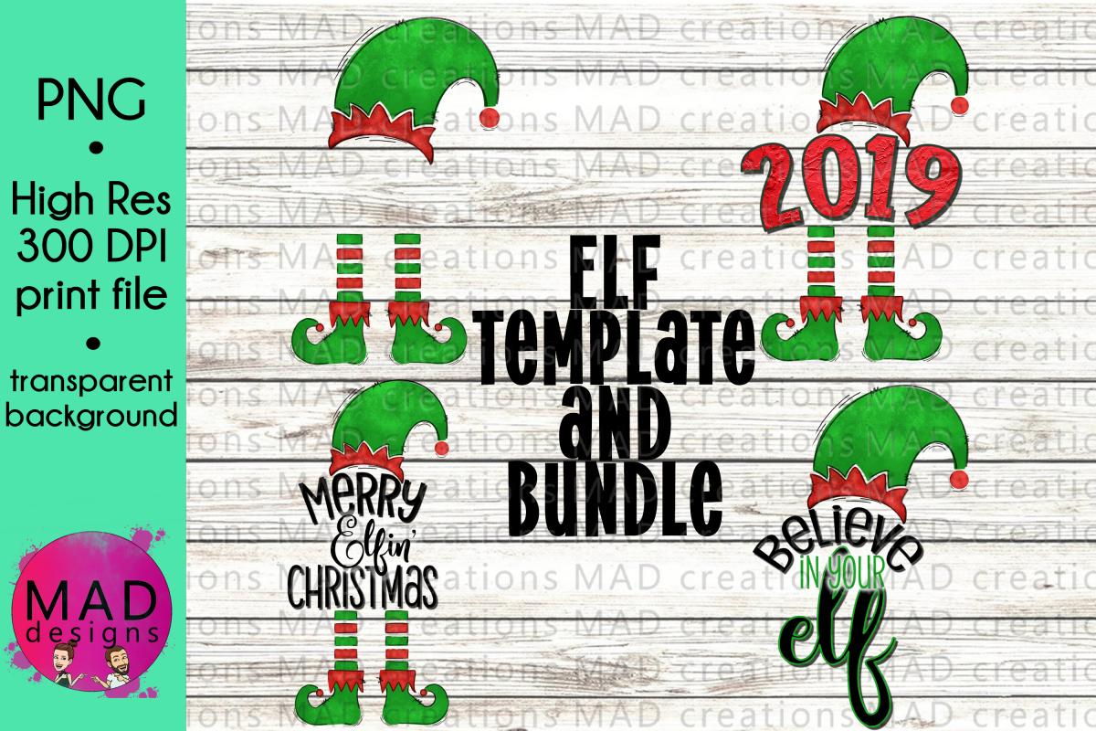 Christmas Elf - Bundle - Hat and Shoes Socks example image 1