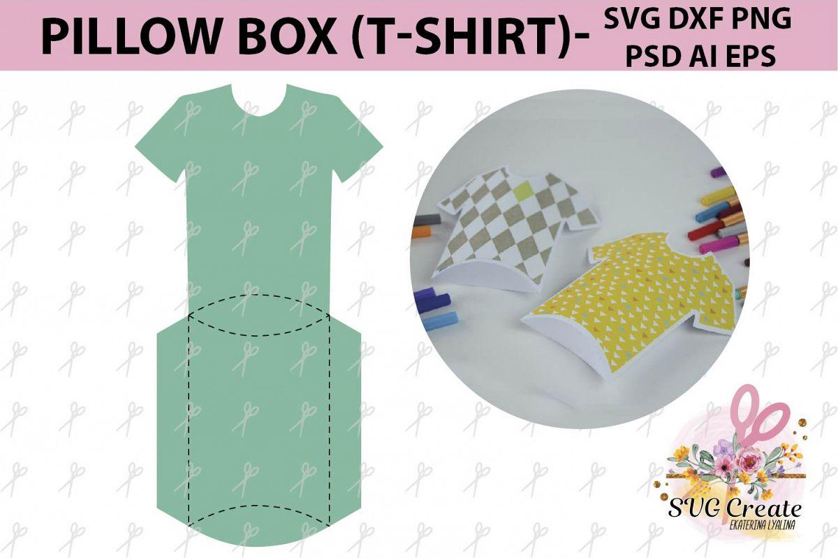 Pillow T Shirt Box Template Gift File Favor Papercut Svg Diy