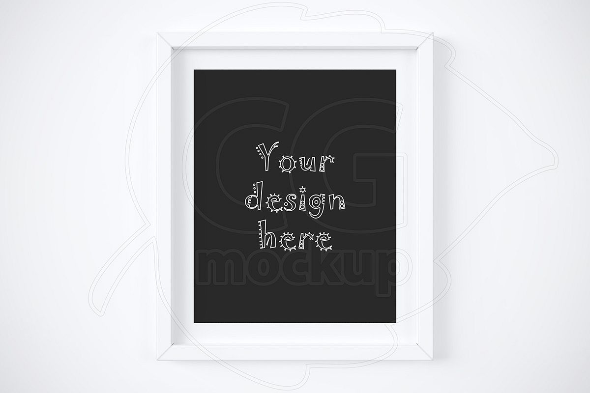 White Matted Frame 8x10 Mockup