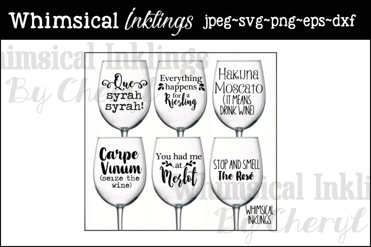 Wine Funnies SVG Cutter Files example image 1