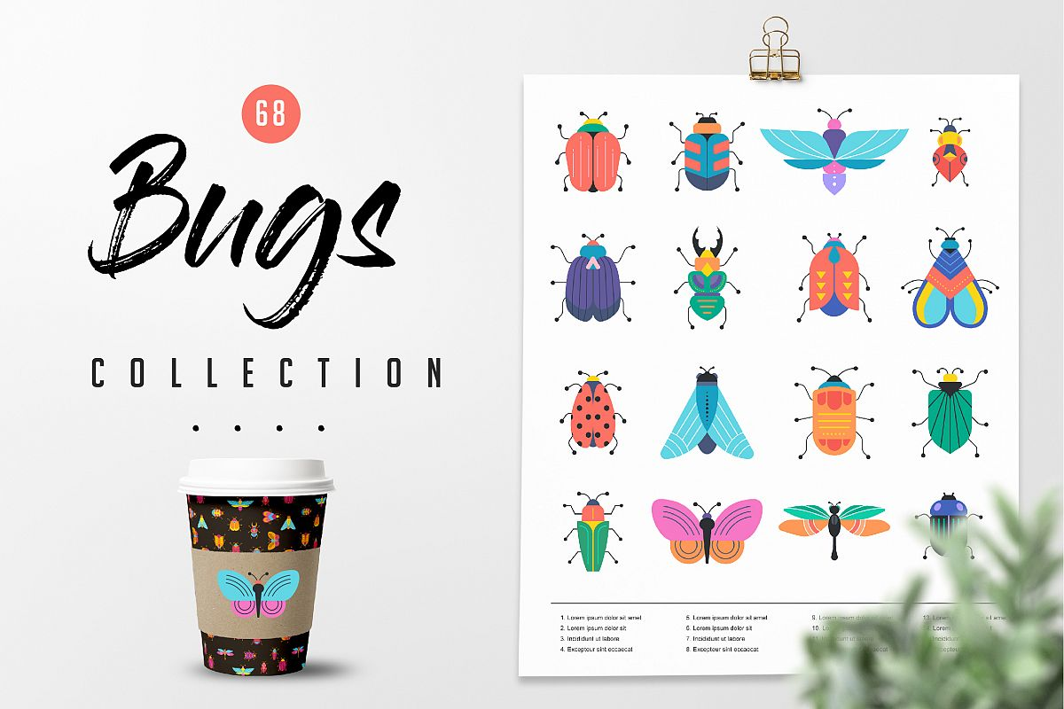 Bugs and insects collection  example image 1