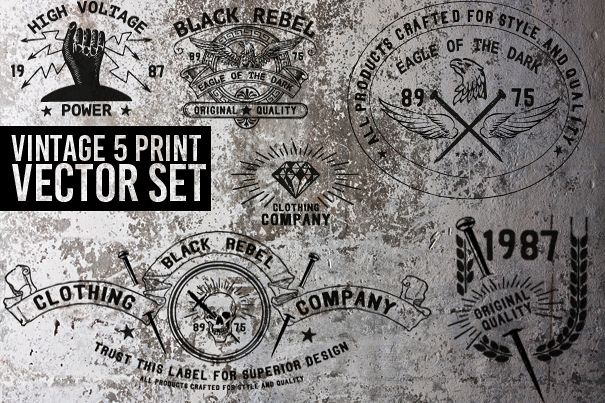 VINTAGE HAND CRAFTED PRINT SET example image 1