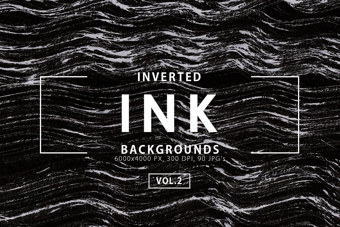 Inverted Black Ink Backgrounds Vol.2 example image 1