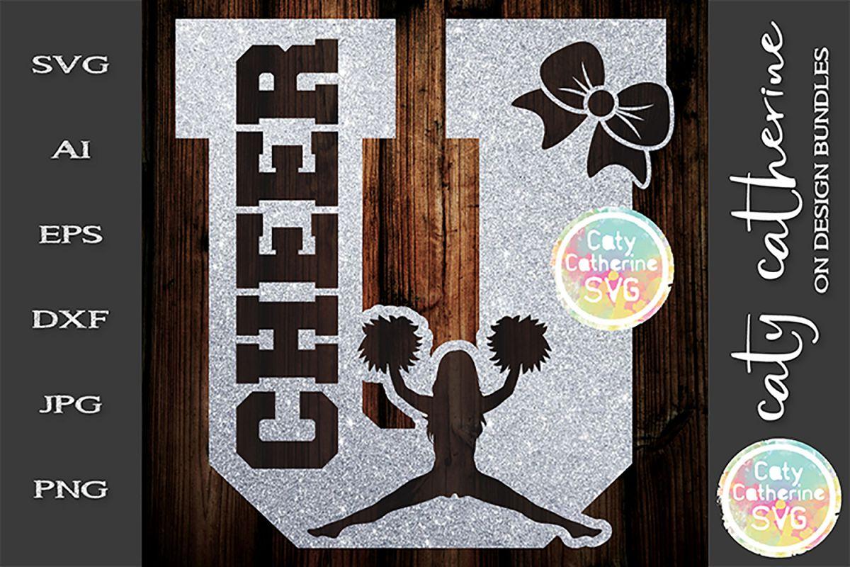 Letter U Cheerleading Monogram Letters SVG Cut File example image 1