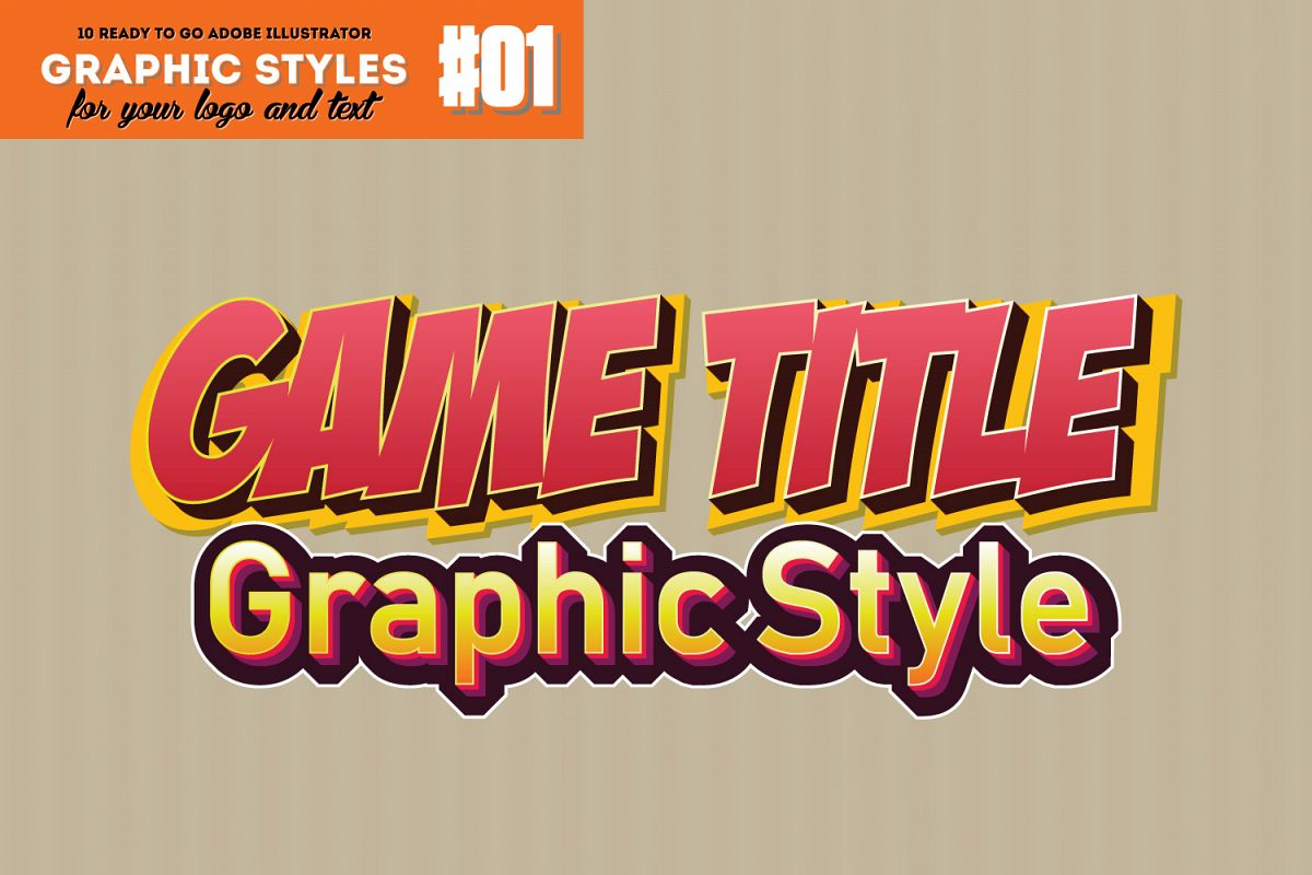 Game Title Graphic Style for Adobe Illustrator example image 1