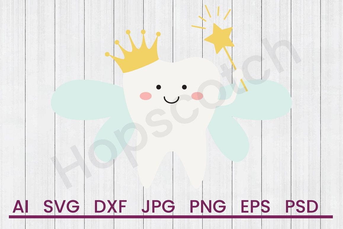 Tooth Fairy SVG, DXF File, Cuttatable File example image 1