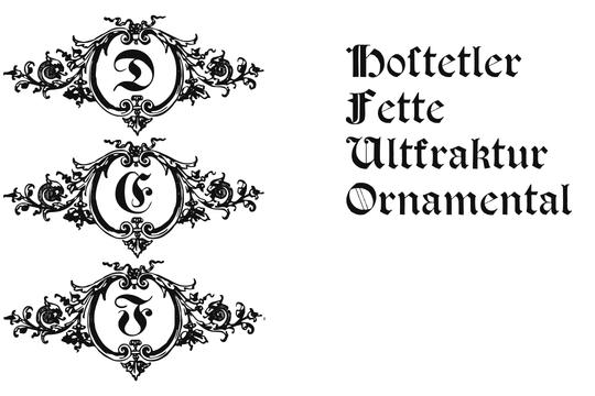 Hostetler Fette Altfraktur Ornamental  example image 1