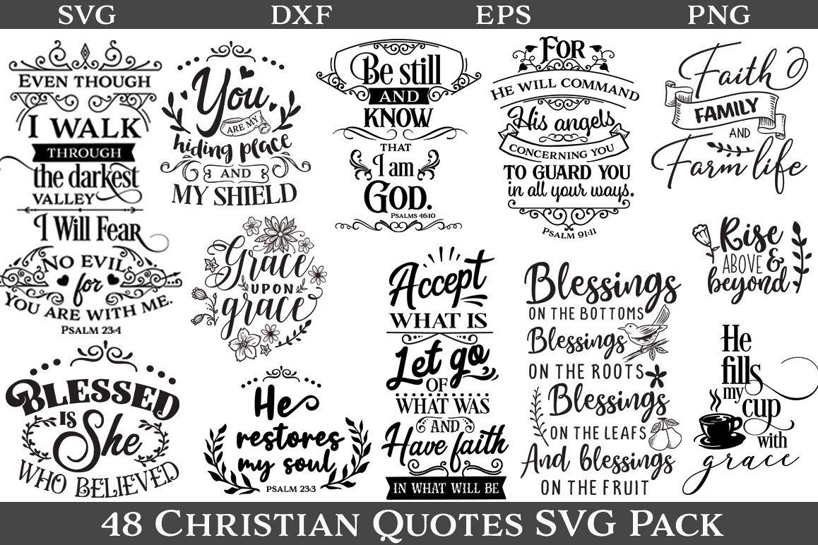 christian quotes svg pack design bundles