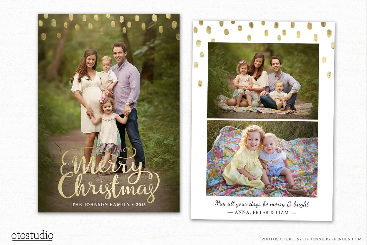 Christmas Card Template For Photographers Cc096 Example Image 1