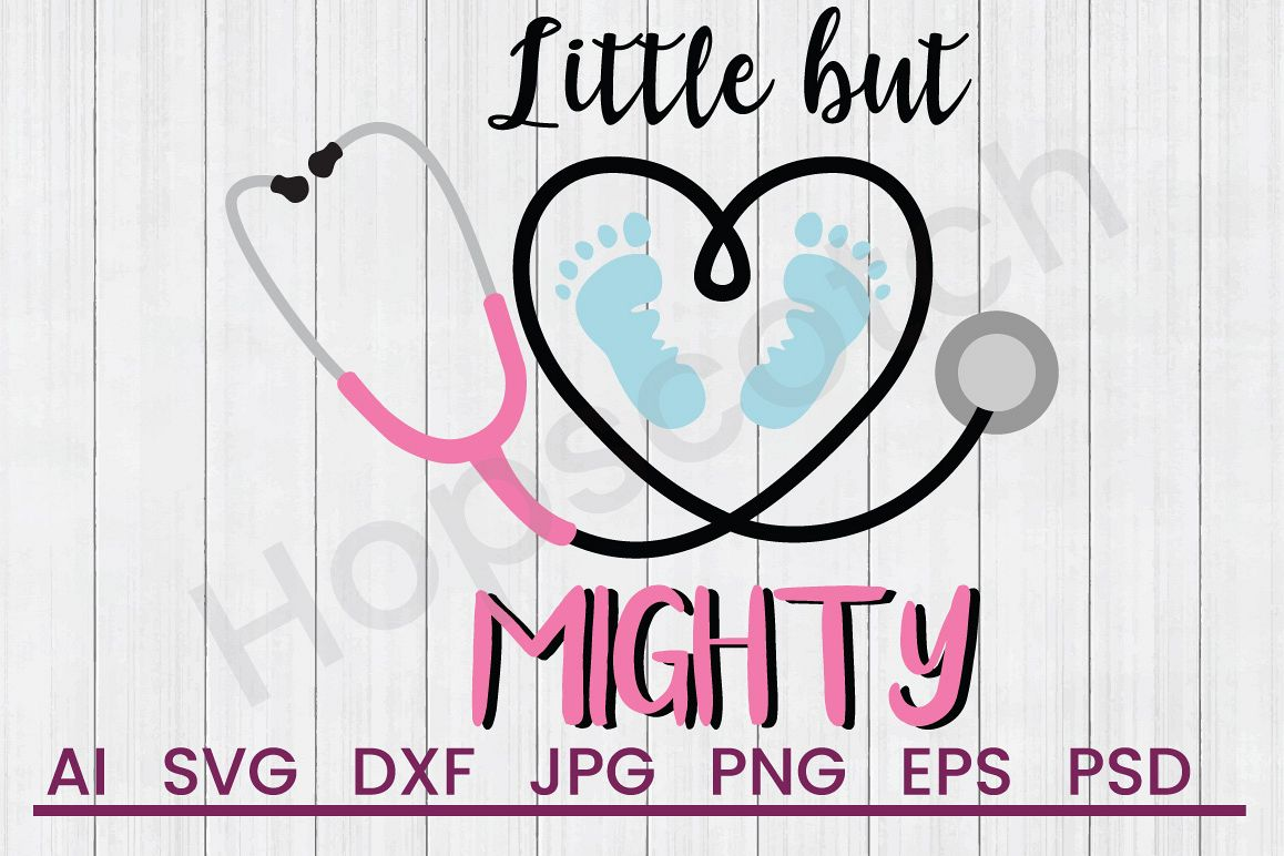 Stethoscope SVG, Little Might SVG, DXF File, Cuttatable File example image 1