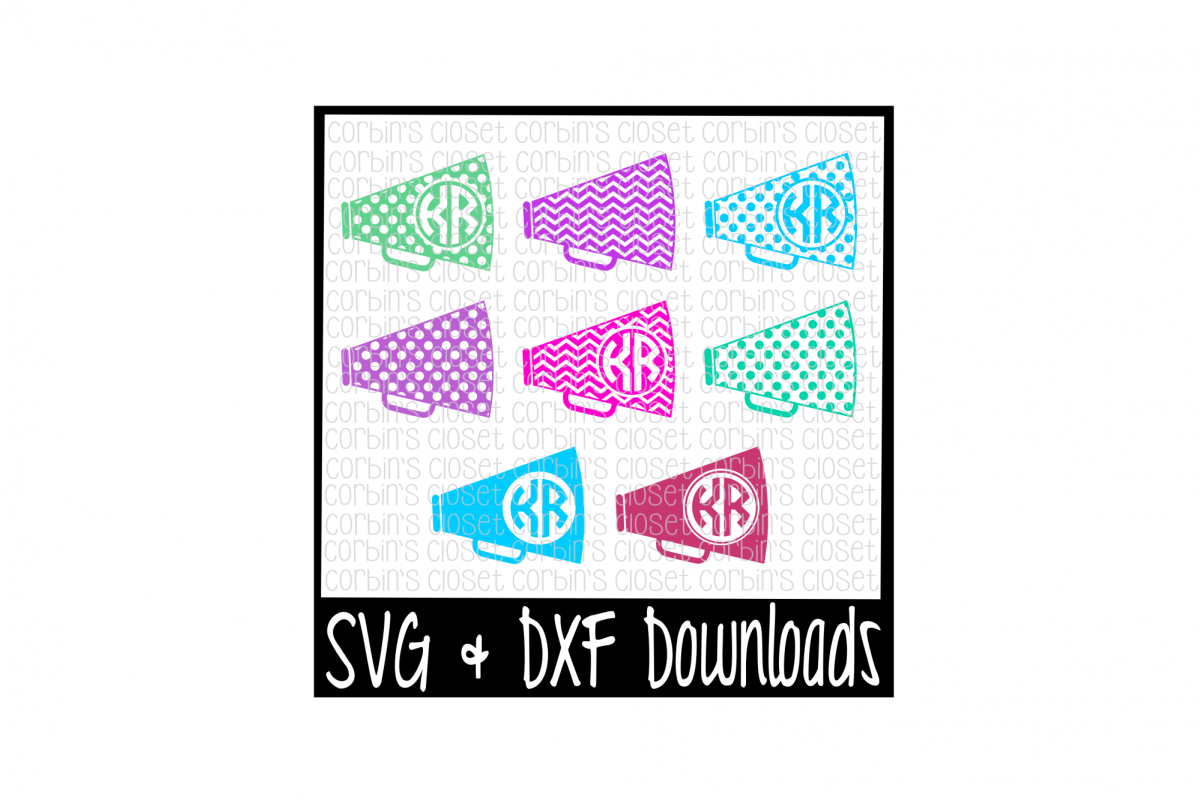 Cheer SVG * Cheer Monogram SVG * Megaphone Cut File example image 1
