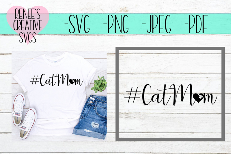 CatMom | Pets | SVG Cutting File example image 1