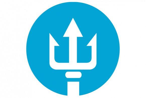 Trident Circle Icon example image 1