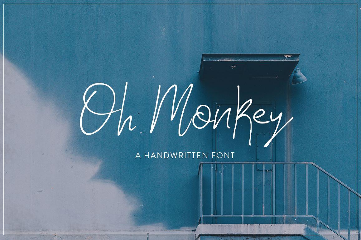 Oh Monkey Font example image 1