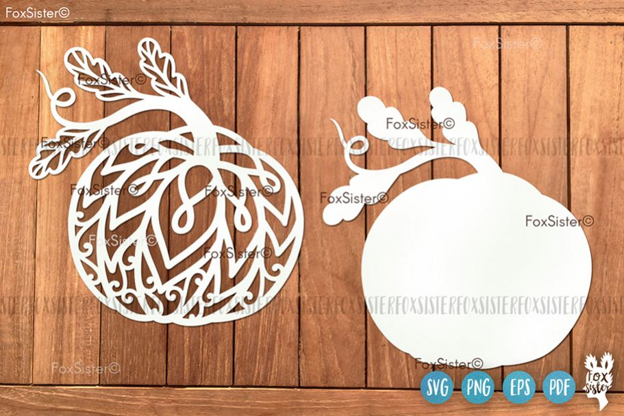 Pumpkin Svg Clipart Vector Cut File, Fall Svg, Halloween Svg example image 1