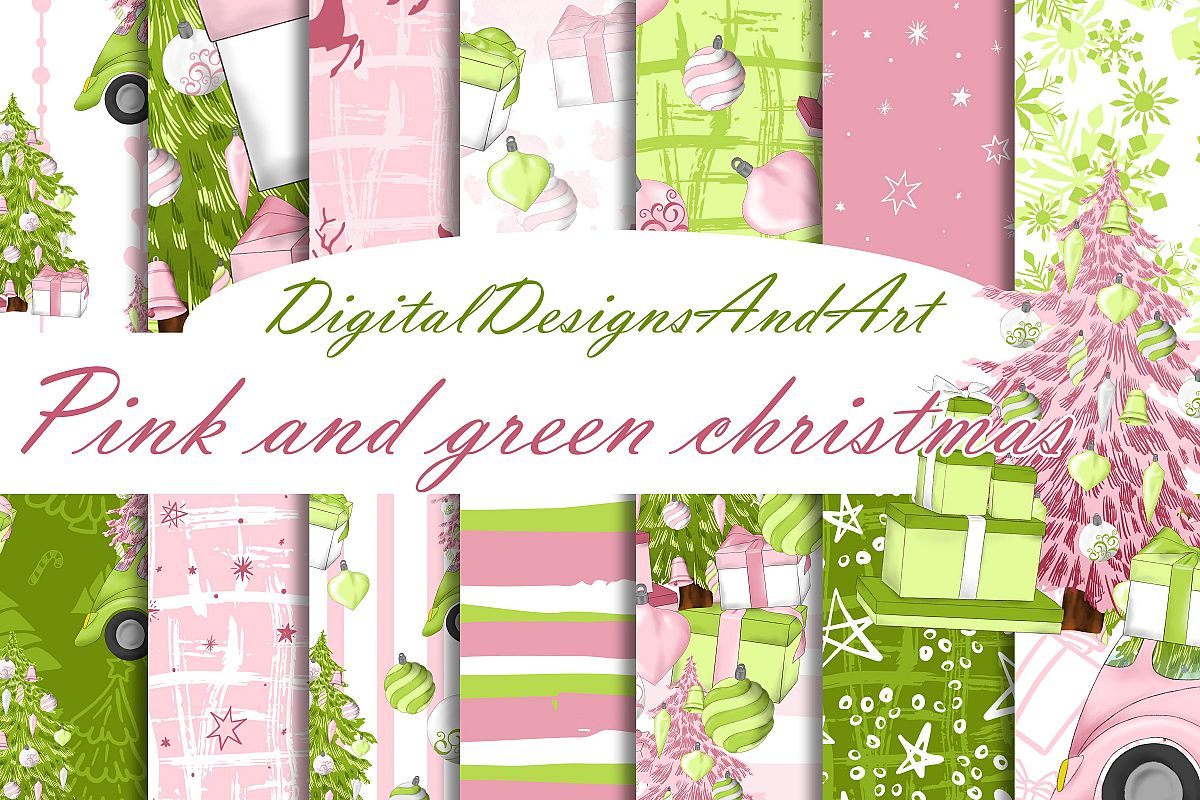 Christmas in pink and mint example image 1